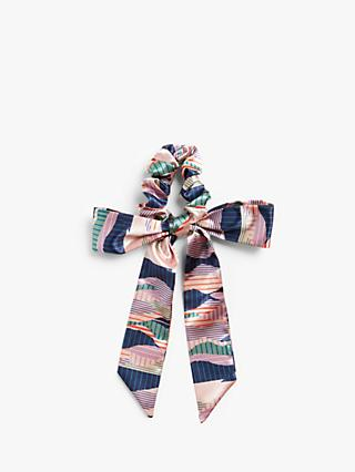 John Lewis & Partners Abstract Stripe Hair Scrunchie