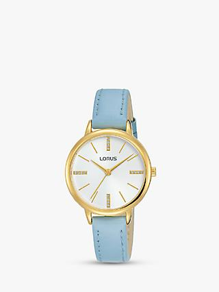 Lorus Women's Crystal Leather Strap Watch