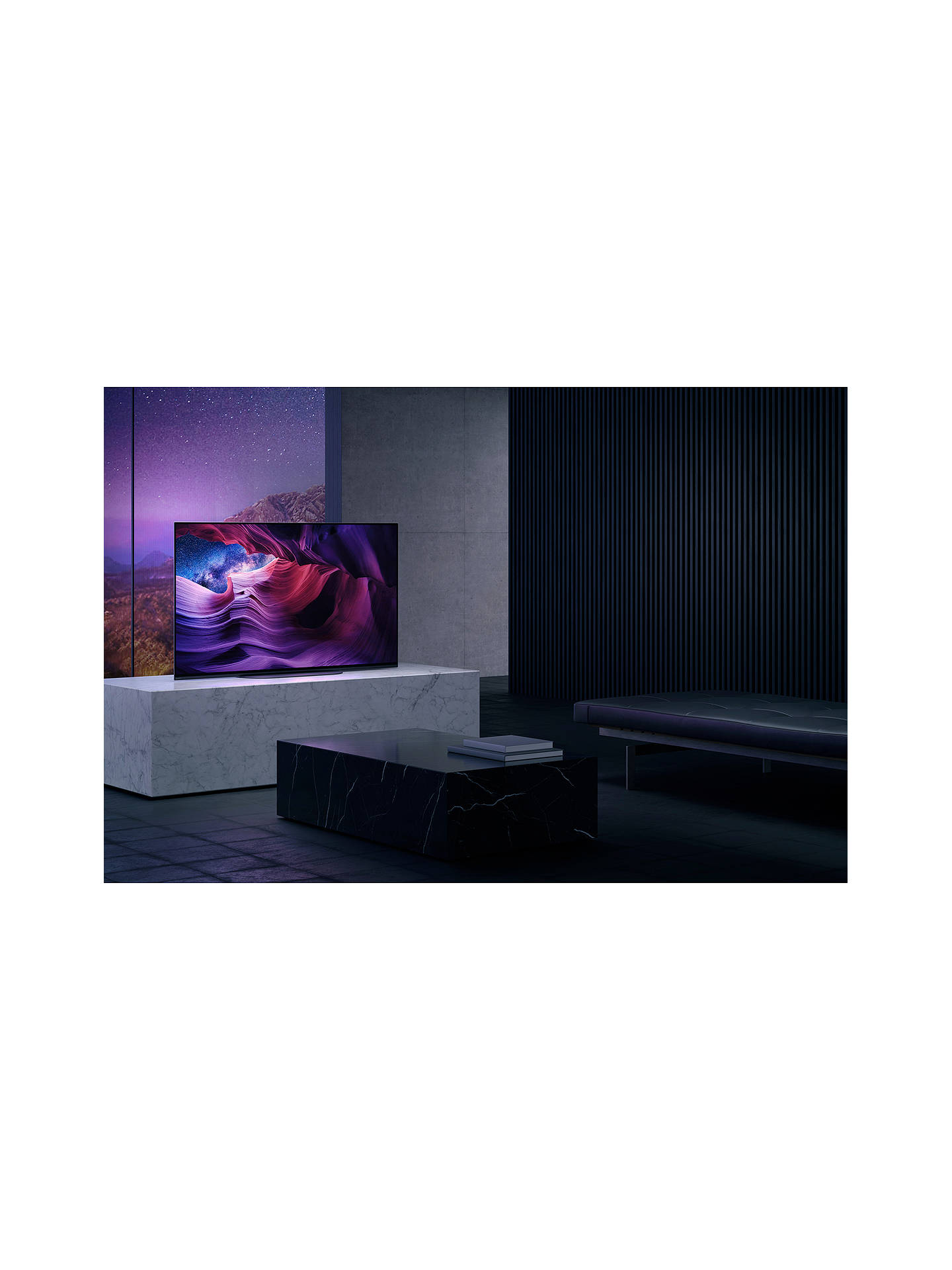 Buy Sony Bravia KD48A9 (2020) OLED HDR 4K Ultra HD Smart Android TV, 48 inch with Freeview HD, Youview, Dolby Atmos & Acoustic Surface Audio, Black Online at johnlewis.com