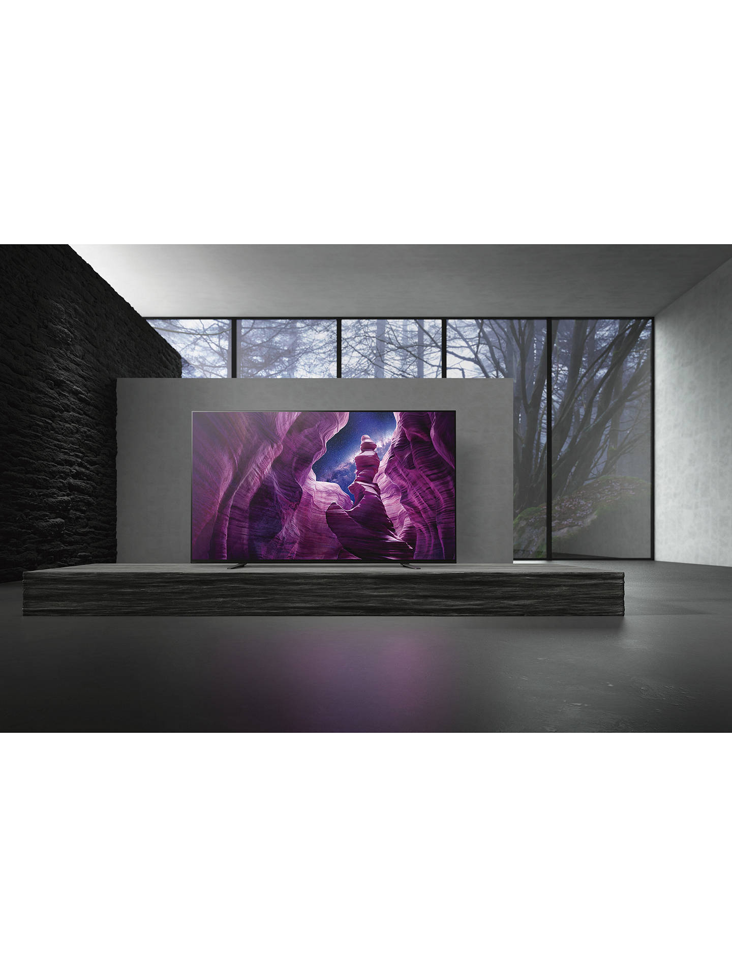 Buy Sony Bravia KD55A8 (2020) OLED HDR 4K Ultra HD Smart Android TV, 55 inch with Freeview HD, Youview, Dolby Atmos & Acoustic Surface Audio, Black Online at johnlewis.com