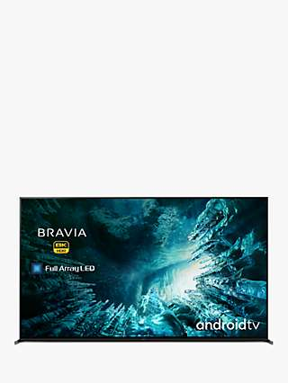 Sony Bravia KD75ZH8 (2020) LED HDR 8K Ultra HD Smart Android TV, 75 inch with Freeview HD, Youview & Dolby Atmos, Black