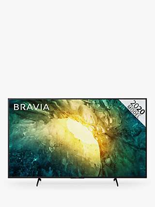 Sony Bravia KD65X7053 (2020) LED HDR 4K Ultra HD Smart TV, 65 inch with Freeview Play, Black
