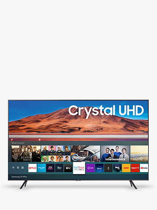 Buy Samsung UE65TU7100 (2020) HDR 4K Ultra HD Smart TV, 65 inch with TVPlus, Carbon Silver Online at johnlewis.com