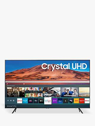 Samsung UE43TU7100 (2020) HDR 4K Ultra HD Smart TV, 43 inch with TVPlus, Carbon Silver