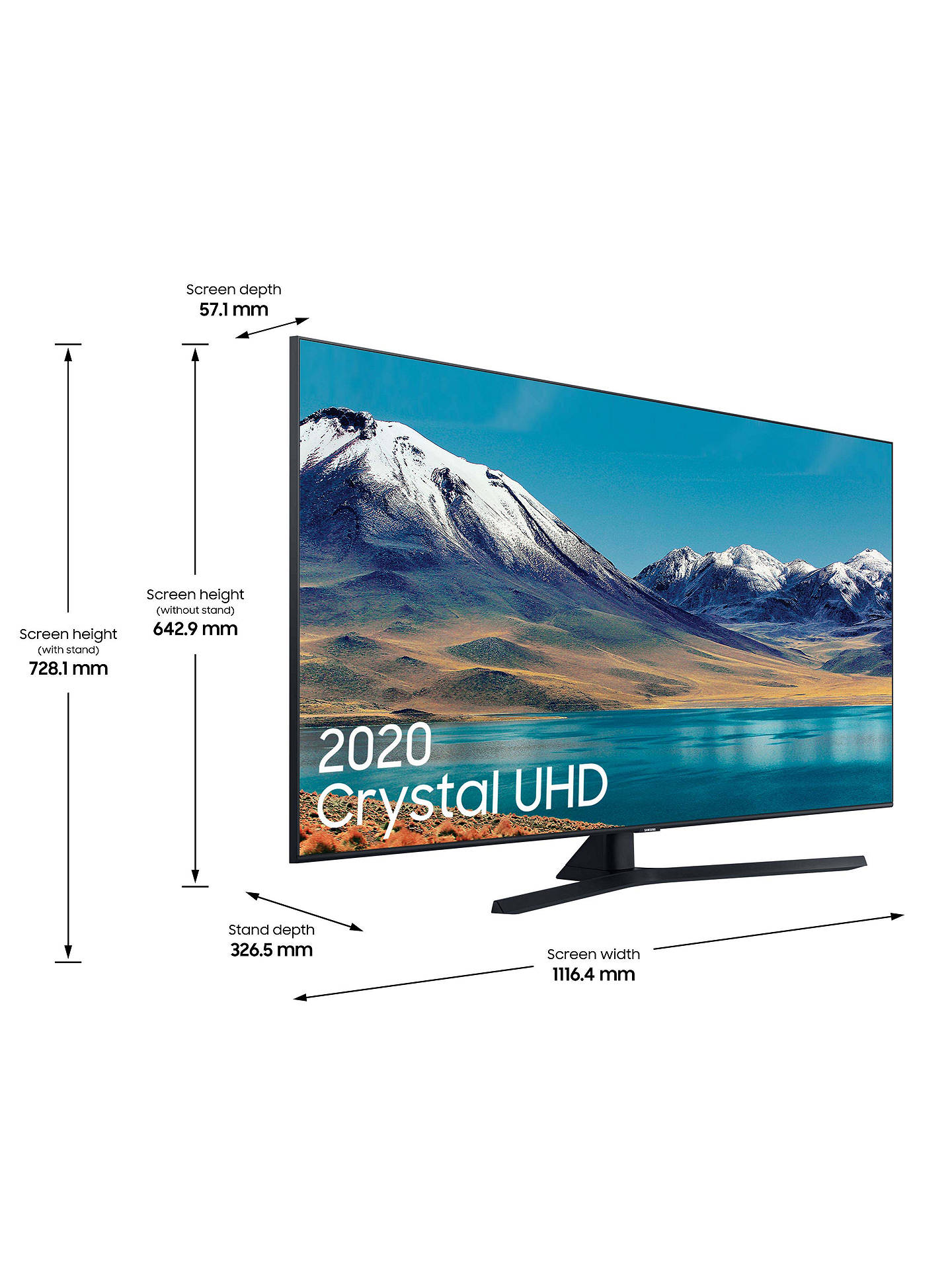 Buy Samsung UE50TU8500 (2020) HDR 4K Ultra HD Smart TV, 50 inch with TVPlus, Black Online at johnlewis.com
