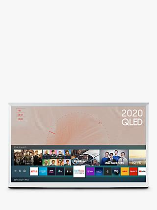 Samsung The Serif (2020) QLED HDR 4K Ultra HD Smart TV, 55 inch with TVPlus & Bouroullec Brothers Design, White