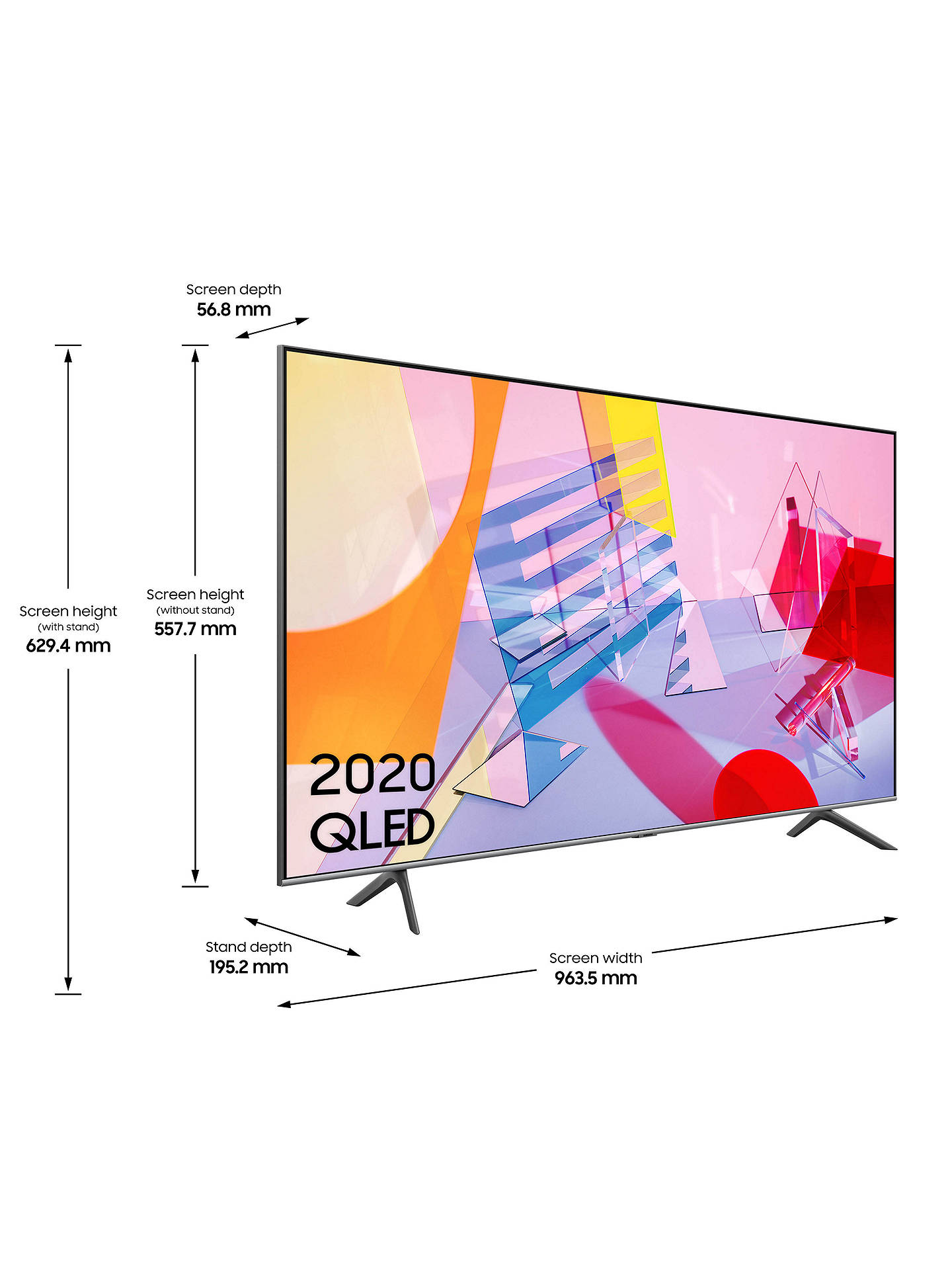 Buy Samsung QE43Q65T (2020) QLED HDR 4K Ultra HD Smart TV, 43 inch with TVPlus, Black Online at johnlewis.com
