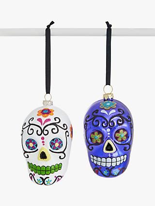 John Lewis & Partners Halloween Skull Hanging Decoration, Assorted
