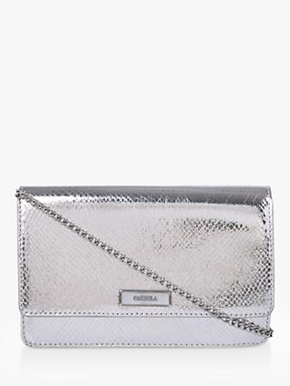 Carvela Gossip Clutch Bag, Silver