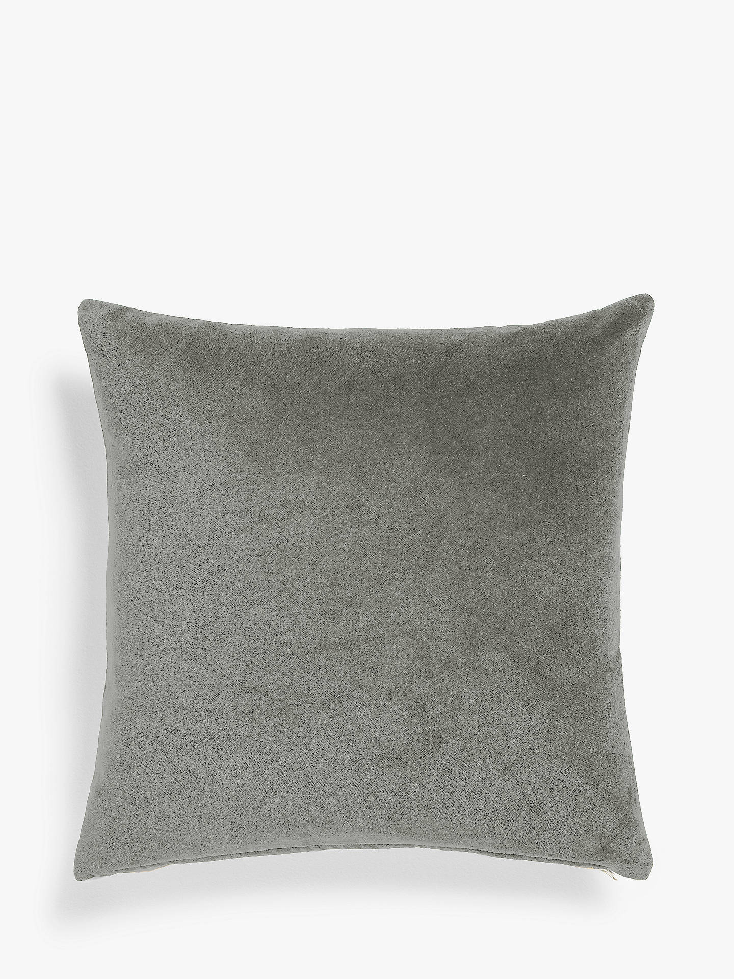 Buy John Lewis & Partners Velvet Cushion, Grey Online at johnlewis.com