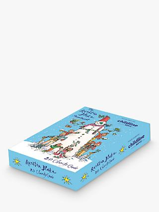 Woodmansterne Quentin Blake Charity Assorted Christmas Cards, Pack of 20
