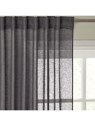 John Lewis & Partners Recycled Polyester Tab Top Sheer Panel