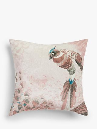 John Lewis & Partners Plume Cushion, Soft Pink