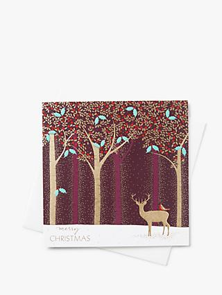 Sara Miller Stag Forest Christmas Cards, Pack of 8