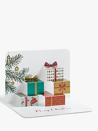 Form Bloomsbury Parcels 3D Christmas Cards, Pack of 5