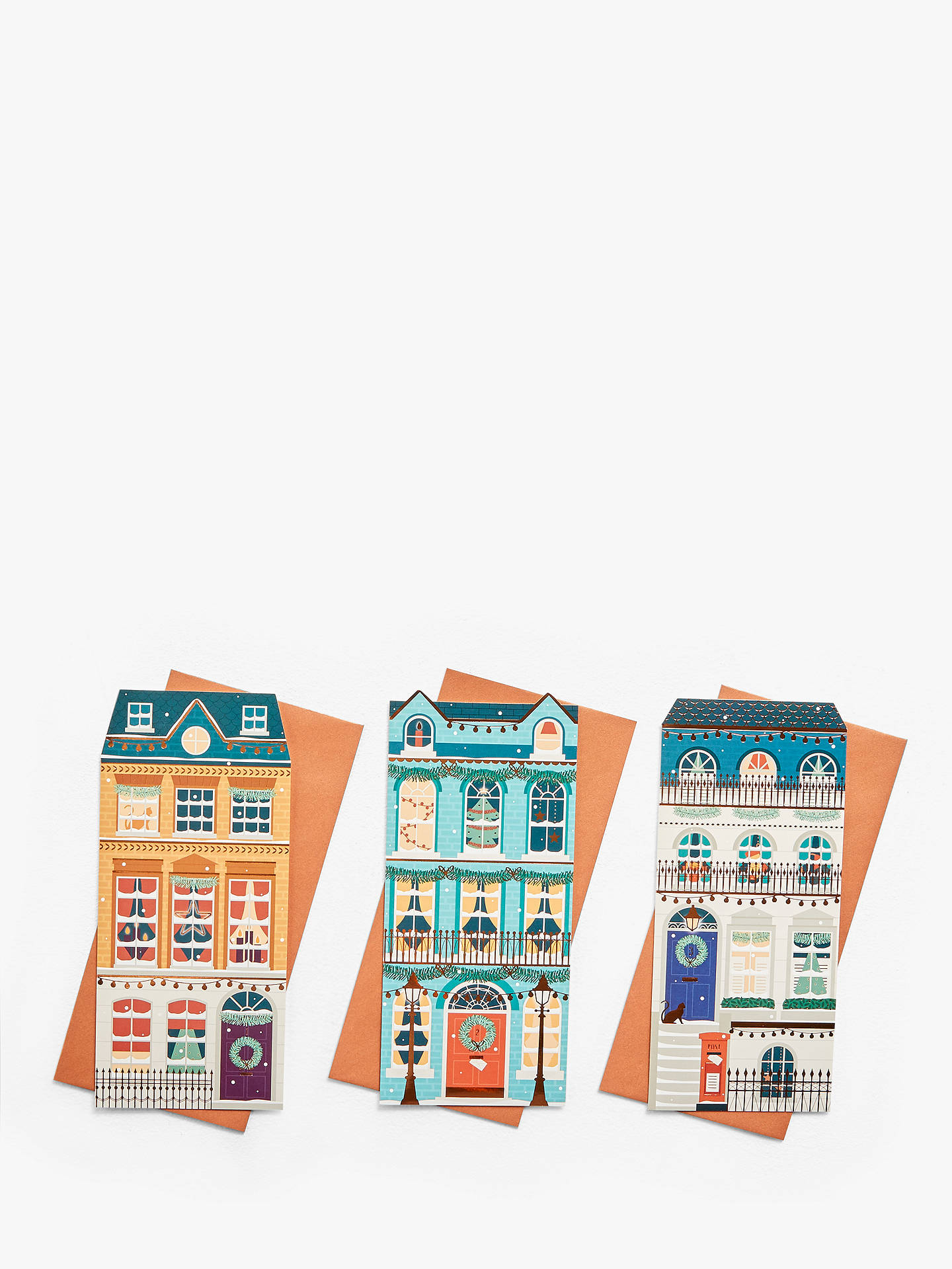Buy John Lewis & Partners Houses Charity Christmas Cards, Pack of 24 Online at johnlewis.com