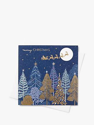 Sara Miller Sleigh Forest Christmas Cards, Pack of 8