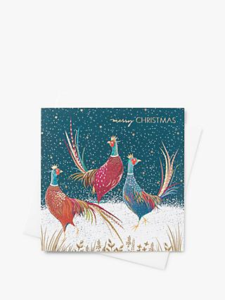 Sara Miller Pheasant Christmas Cards, Pack of 8