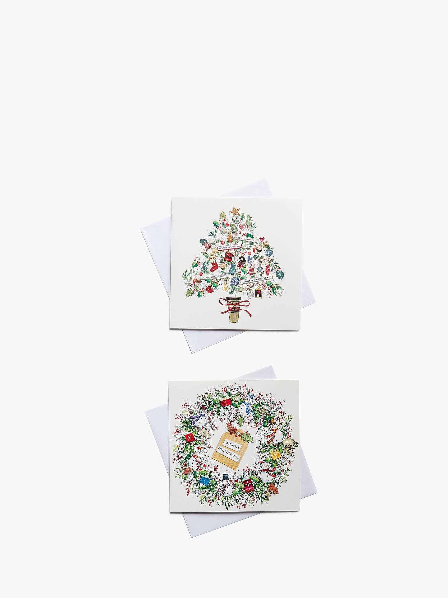 Buy John Lewis & Partners Wreath & Tree Charity Christmas Cards, Pack of 10 Online at johnlewis.com