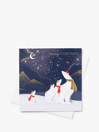 Sara Miller Polar Bears Christmas Cards, Pack of 8