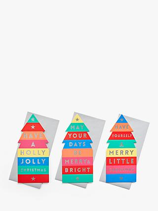 John Lewis & Partners Rainbow Christmas Tree Charity Christmas Cards, Pack of 24