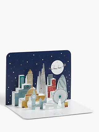 Form Impressionism London at Christmas 3D Cards, Pack of 5