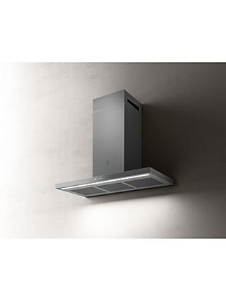 Elica THIN-90 89.8cm Chimney Cooker Hood, A Energy Rating, Stainless Steel