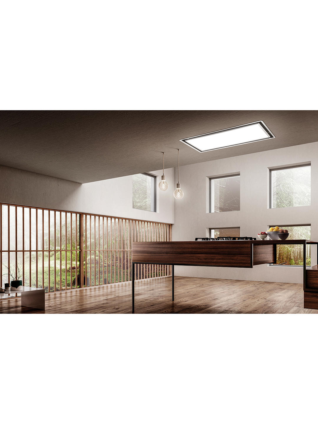 Buy Elica SKYDOME16 100cm Ceiling Cooker Hood, A Energy Rating, White Online at johnlewis.com