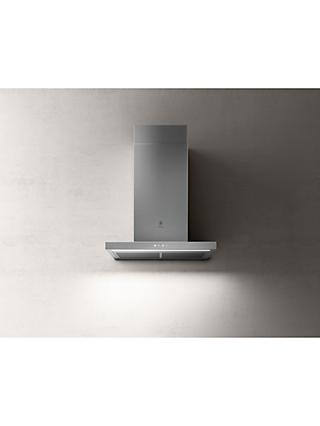 Elica THIN-60 59.8cm Chimney Cooker Hood, A Energy Rating, Stainless Steel