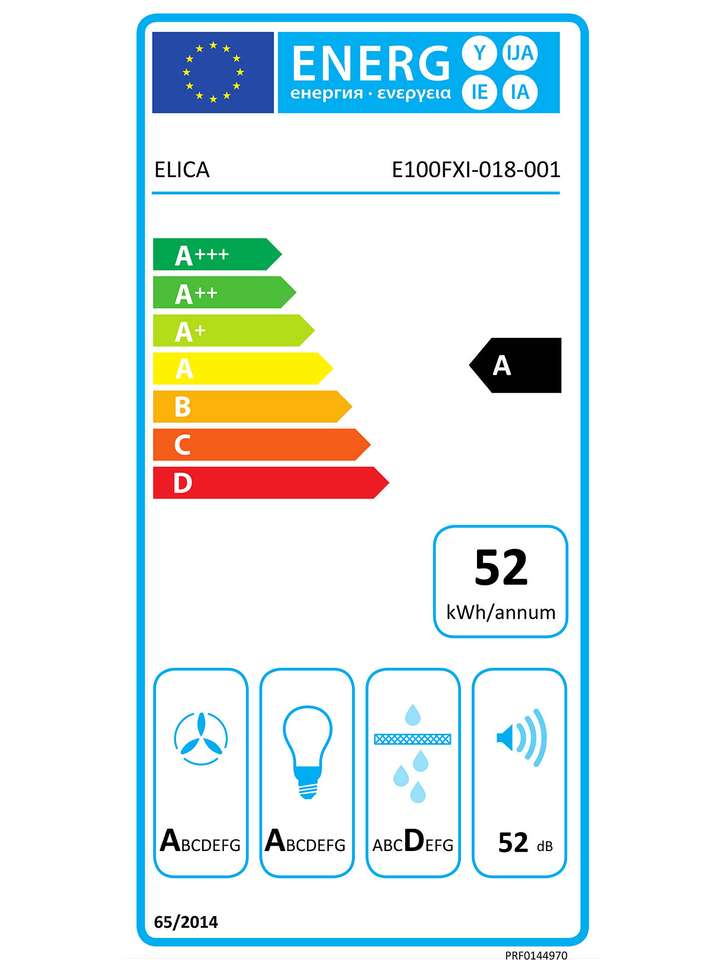 Buy Elica THIN-60 59.8cm Chimney Cooker Hood, A Energy Rating, Stainless Steel Online at johnlewis.com