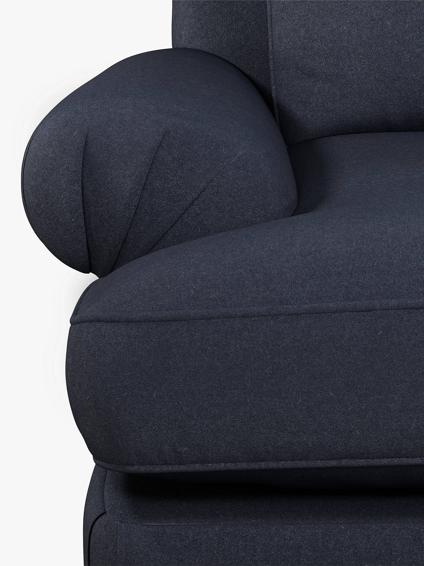 Buy Croft Collection Findon Armchair, Oak Leg, Ruskin Navy Online at johnlewis.com