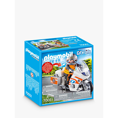 Playmobil City Life 70051 Emergency Motorbike
