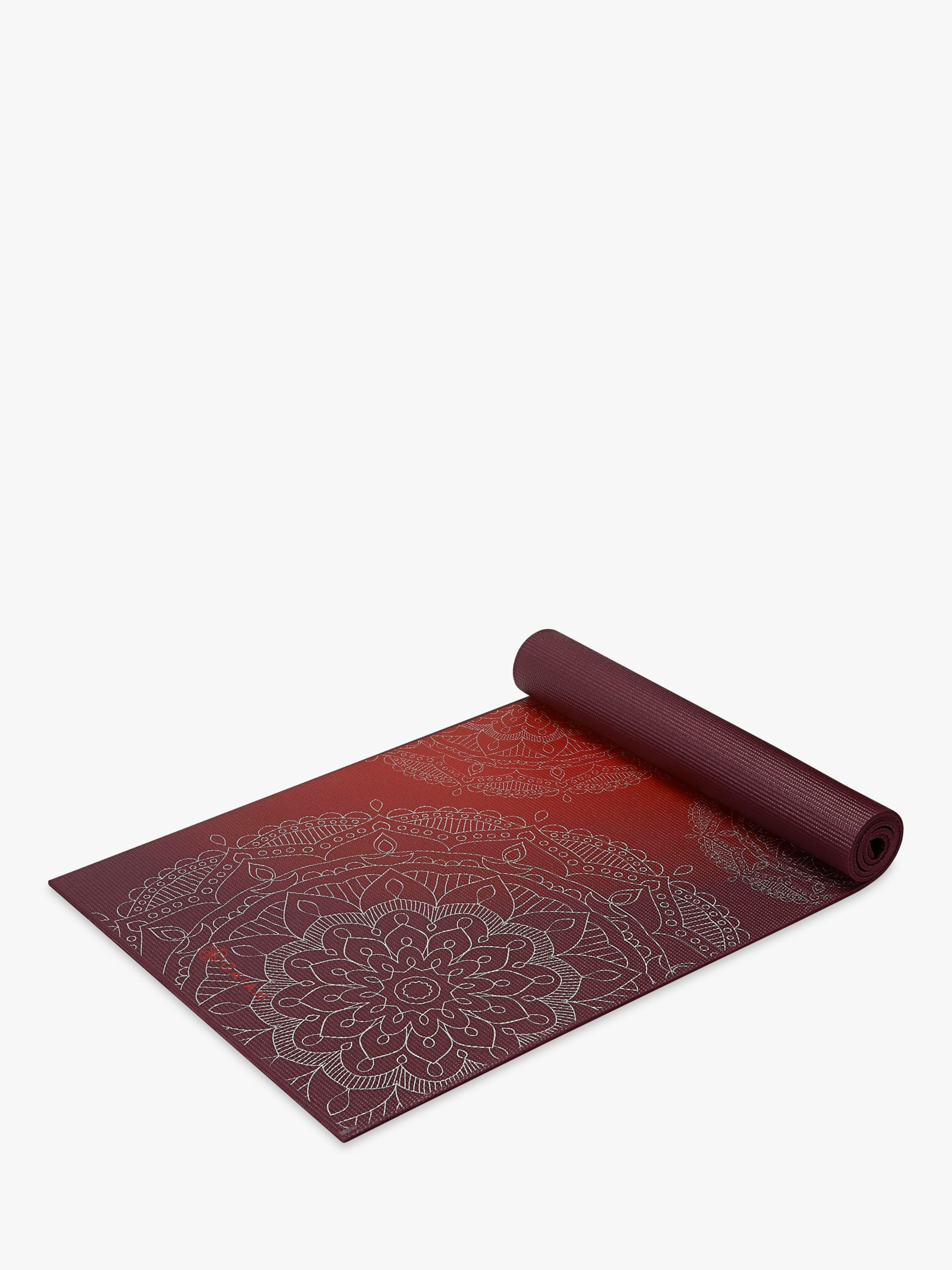 Gaiam Premium Metallic Sunset 6mm Yoga Mat, Red