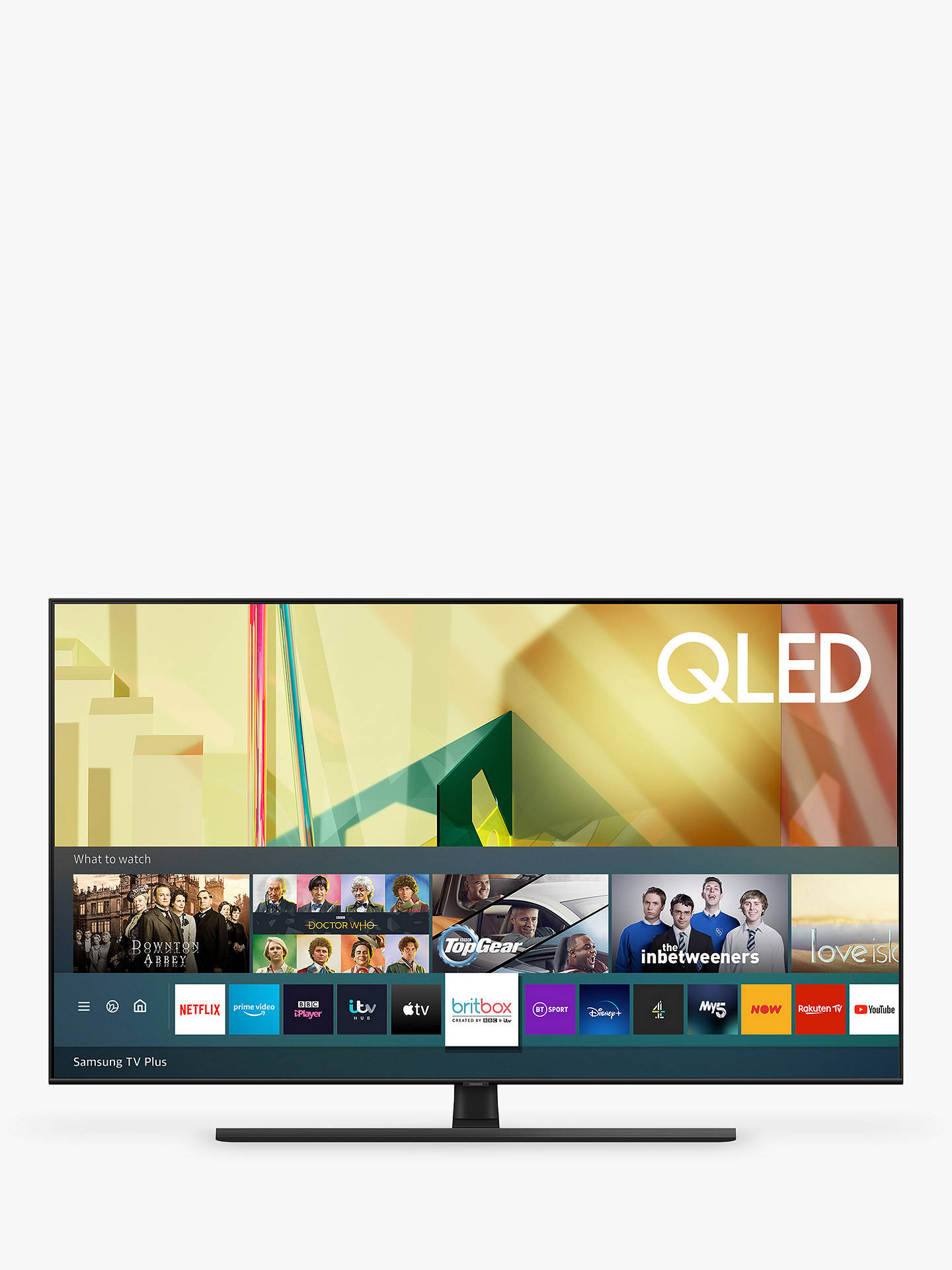 Buy Samsung QE65Q70T (2020) QLED HDR 4K Ultra HD Smart TV, 65 inch with TVPlus/Freesat HD, Black Online at johnlewis.com