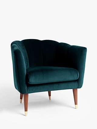 John Lewis & Partners + Swoon Enville Occasional Armchair, Wildwood Green Velvet