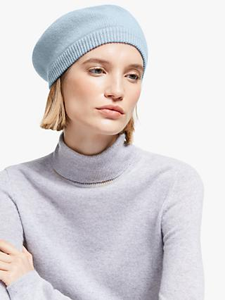 John Lewis & Partners Cashmere Roll Beret