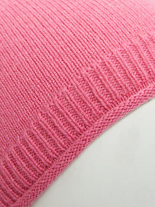 Buy John Lewis & Partners Cashmere Beanie Hat, Bright Pink Online at johnlewis.com