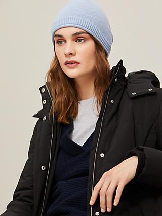 John Lewis & Partners Cashmere Roll Beanie Hat
