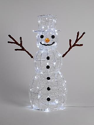 John Lewis & Partners Alistair the Snowman 80 LED Figure