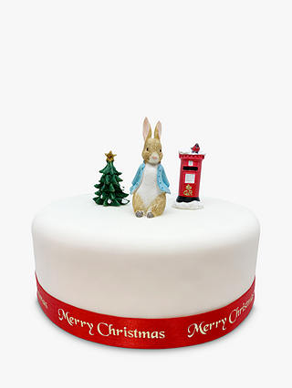 Buy Creative Party Beatrix Potter Peter Rabbit Christmas Cake Topper Set Online at johnlewis.com