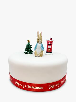 Creative Party Beatrix Potter Peter Rabbit Christmas Cake Topper Set