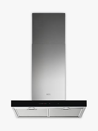 AEG DBE5661HG 60cm Chimney Cooker Hood, A Energy Rating, Stainless Steel