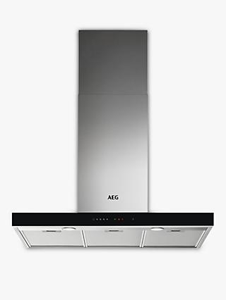 AEG DBE5961HG 90cm Chimney Cooker Hood, A Energy Rating, Stainless Steel
