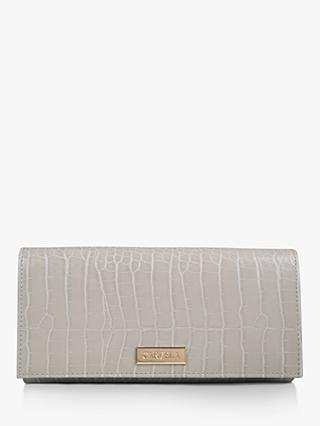 Carvela Kareless Croc Print Clutch Bag