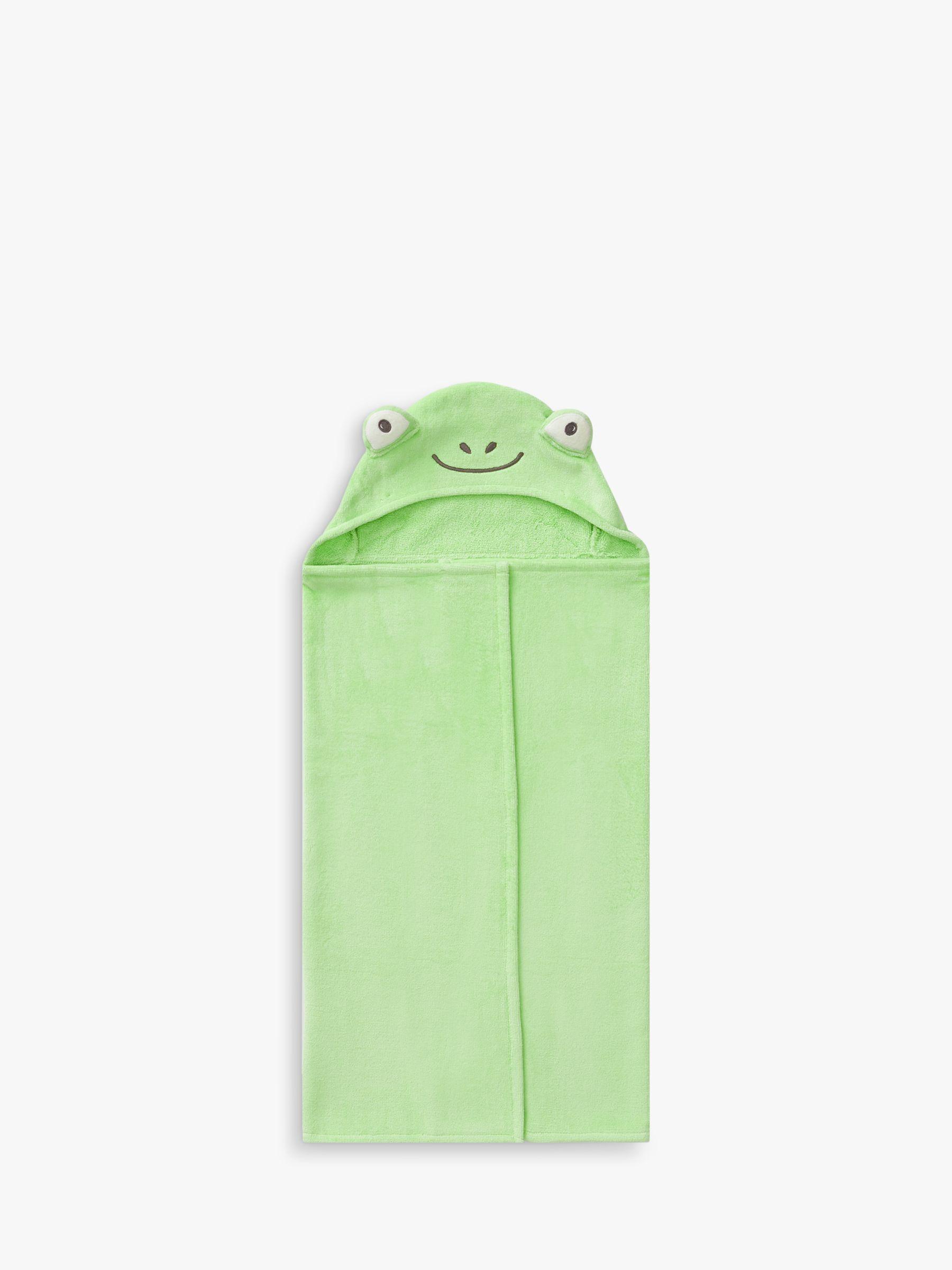 Pottery Barn Kids Frog Hooded Bath Towel, Green
