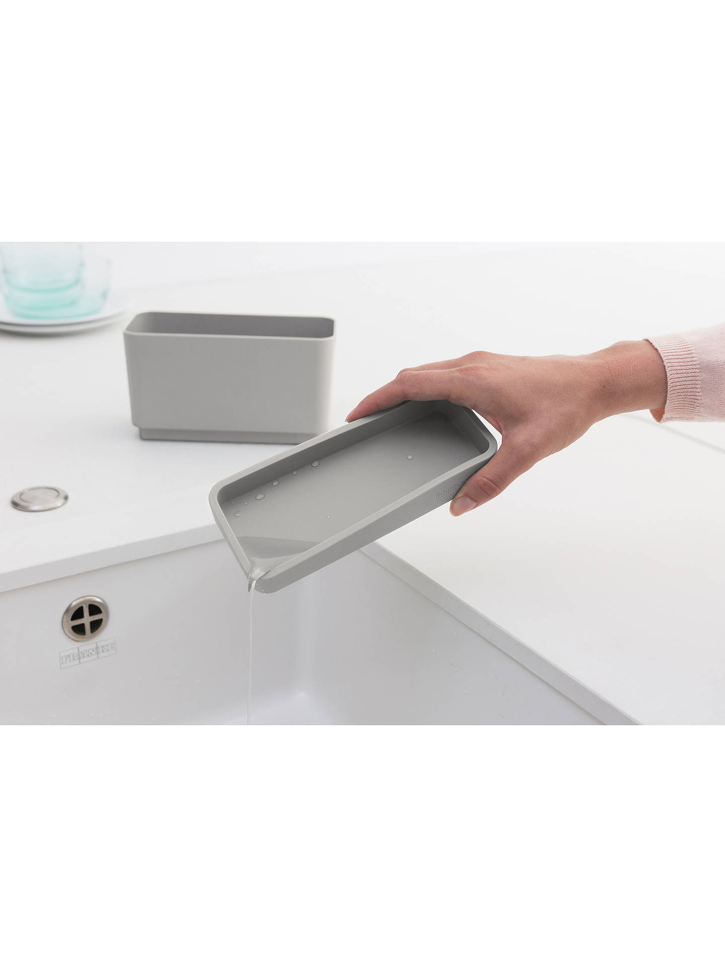 Buy Brabantia Sink Organiser, Mid Grey Online at johnlewis.com