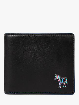 PS Paul Smith Zebra Bifold Leather Wallet, Black