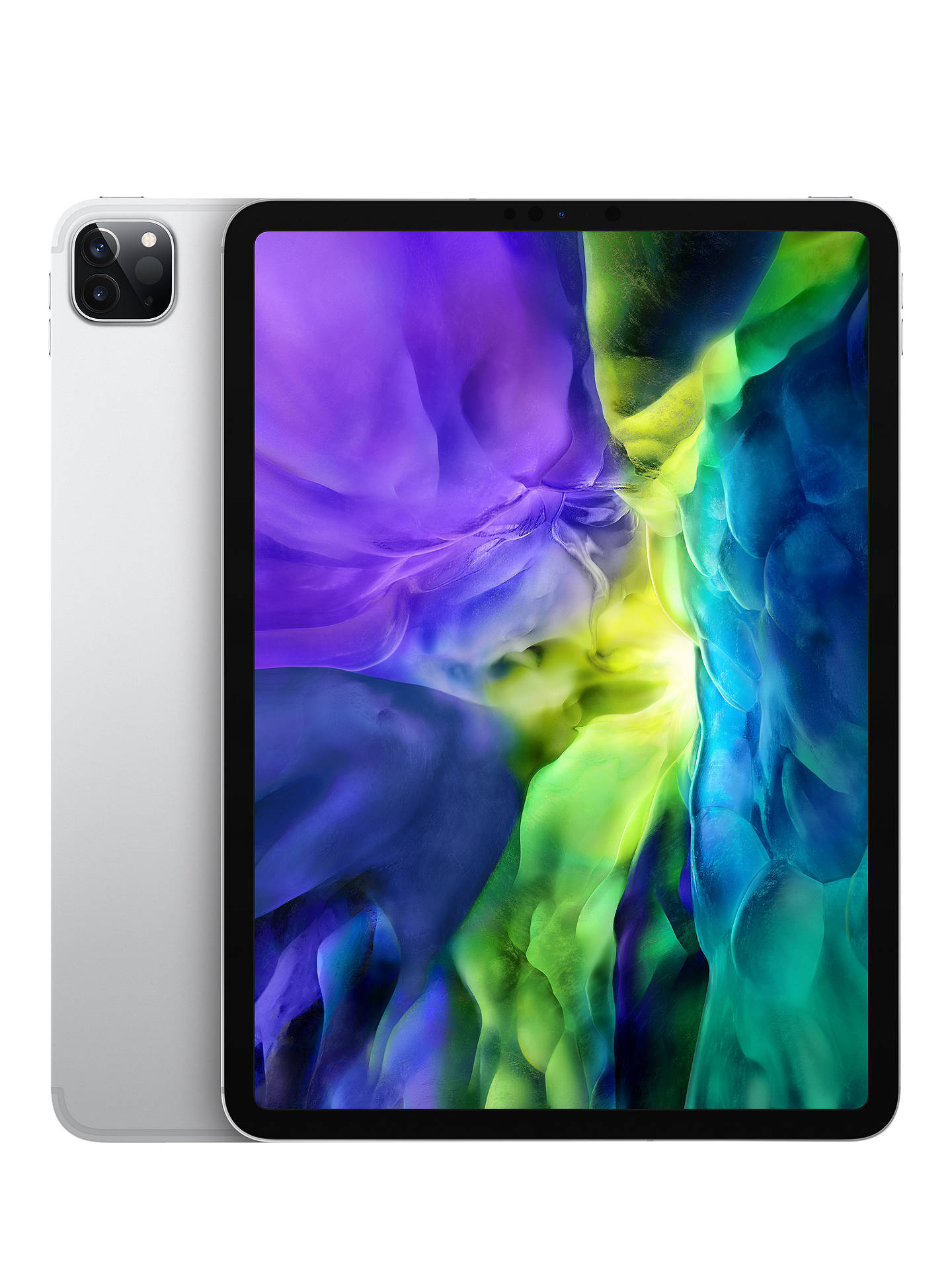 "Buy 2020 Apple iPad Pro 11"", A12Z Bionic, iOS, Wi-Fi & Cellular, 512GB, Silver Online at johnlewis.com"