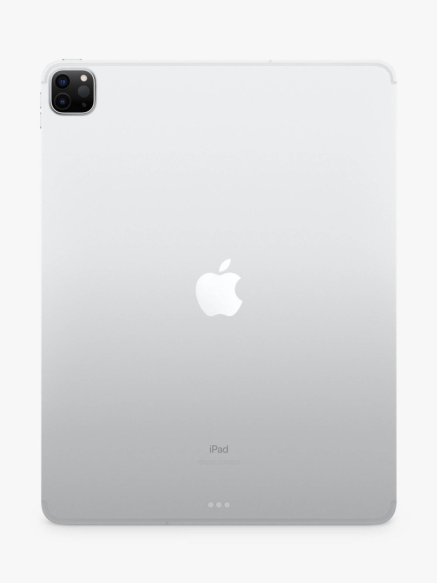 "Buy 2020 Apple iPad Pro 12.9"", A12Z Bionic, iOS, Wi-Fi & Cellular, 512GB, Silver Online at johnlewis.com"