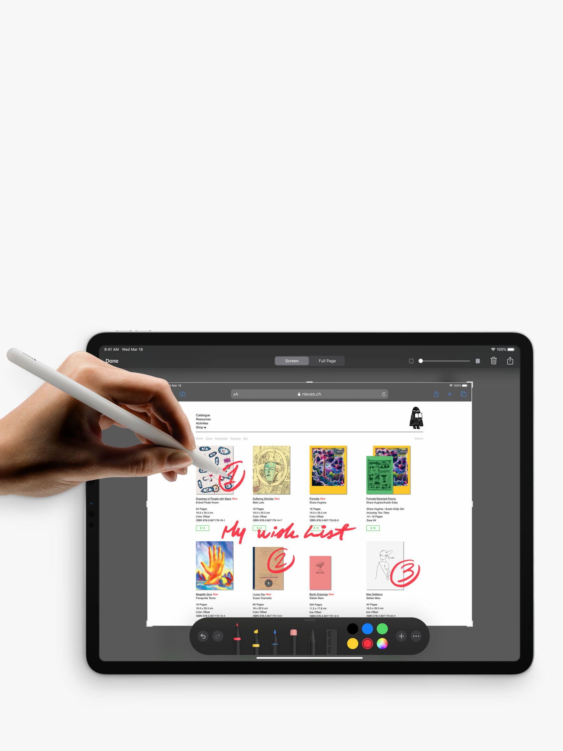 2020 Apple Ipad Pro 12 9 A12z Bionic Ios Wi Fi 128gb At John Lewis Partners